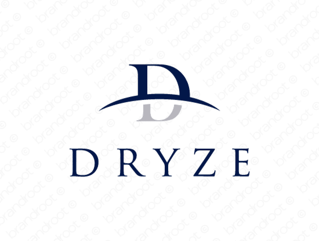 Dryze logo design included with business name and domain name, Dryze.com.