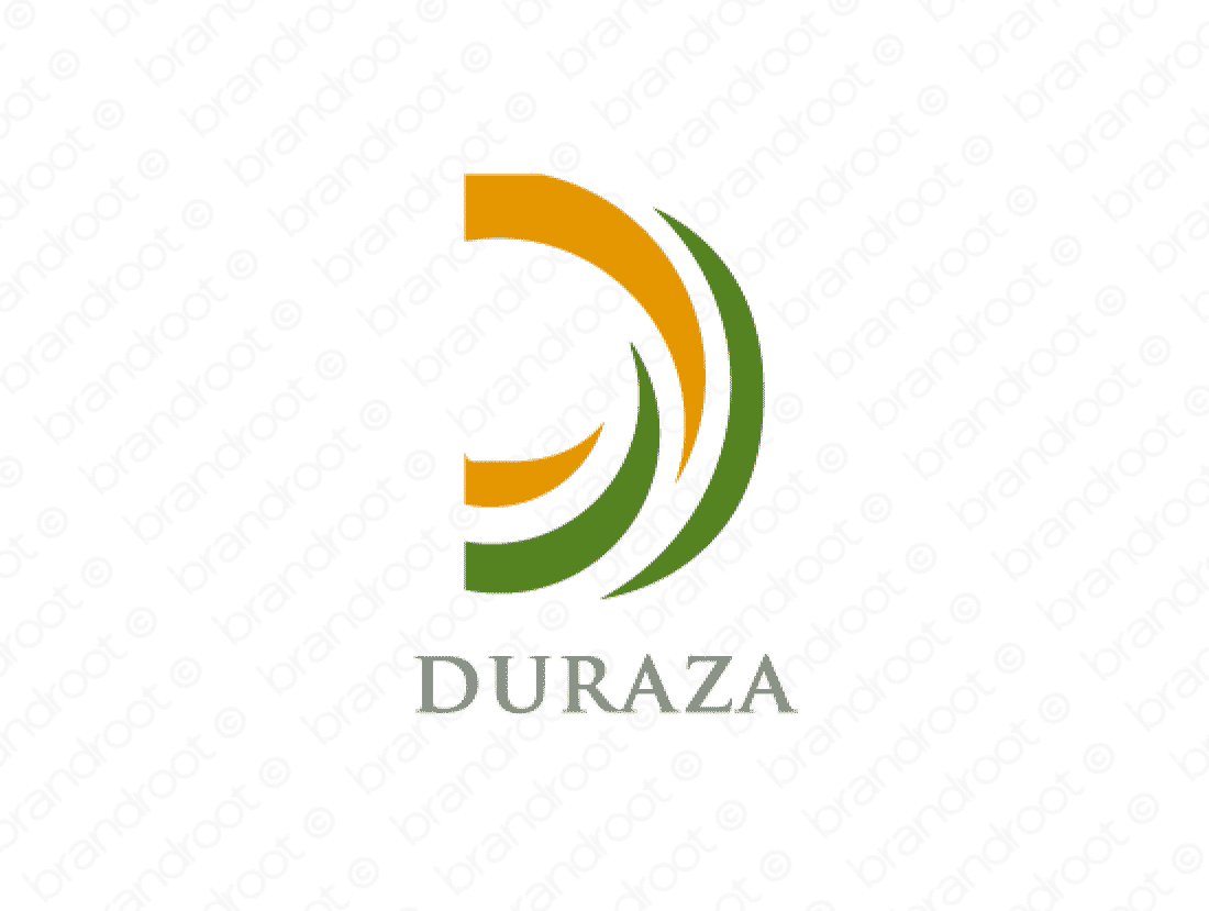 Duraza logo design included with business name and domain name, Duraza.com.