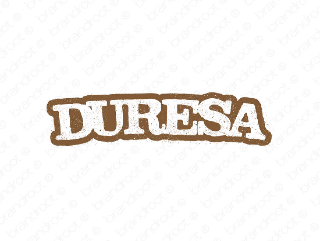 Duresa logo design included with business name and domain name, Duresa.com.