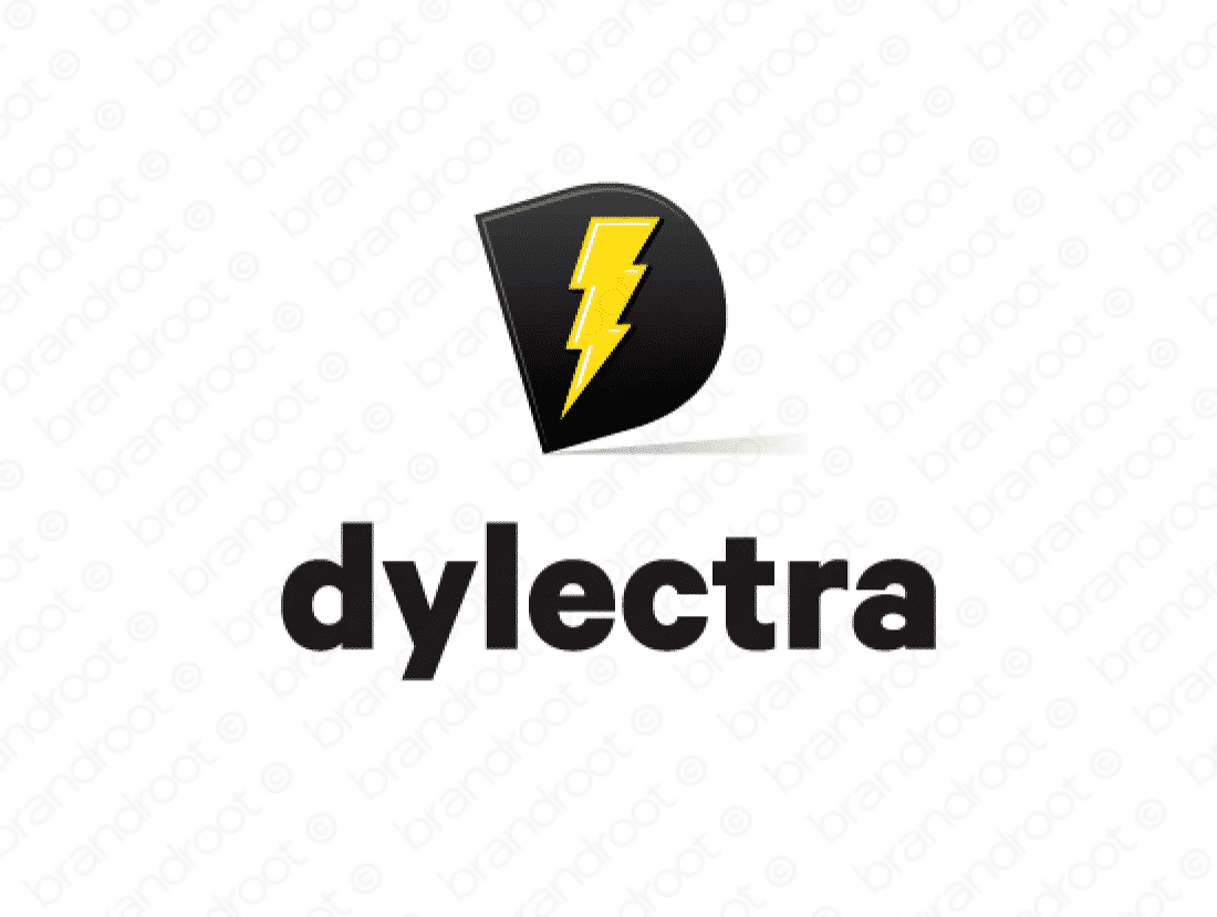 Dylectra logo design included with business name and domain name, Dylectra.com.