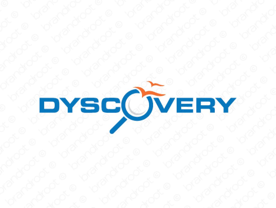 Dyscovery logo design included with business name and domain name, Dyscovery.com.