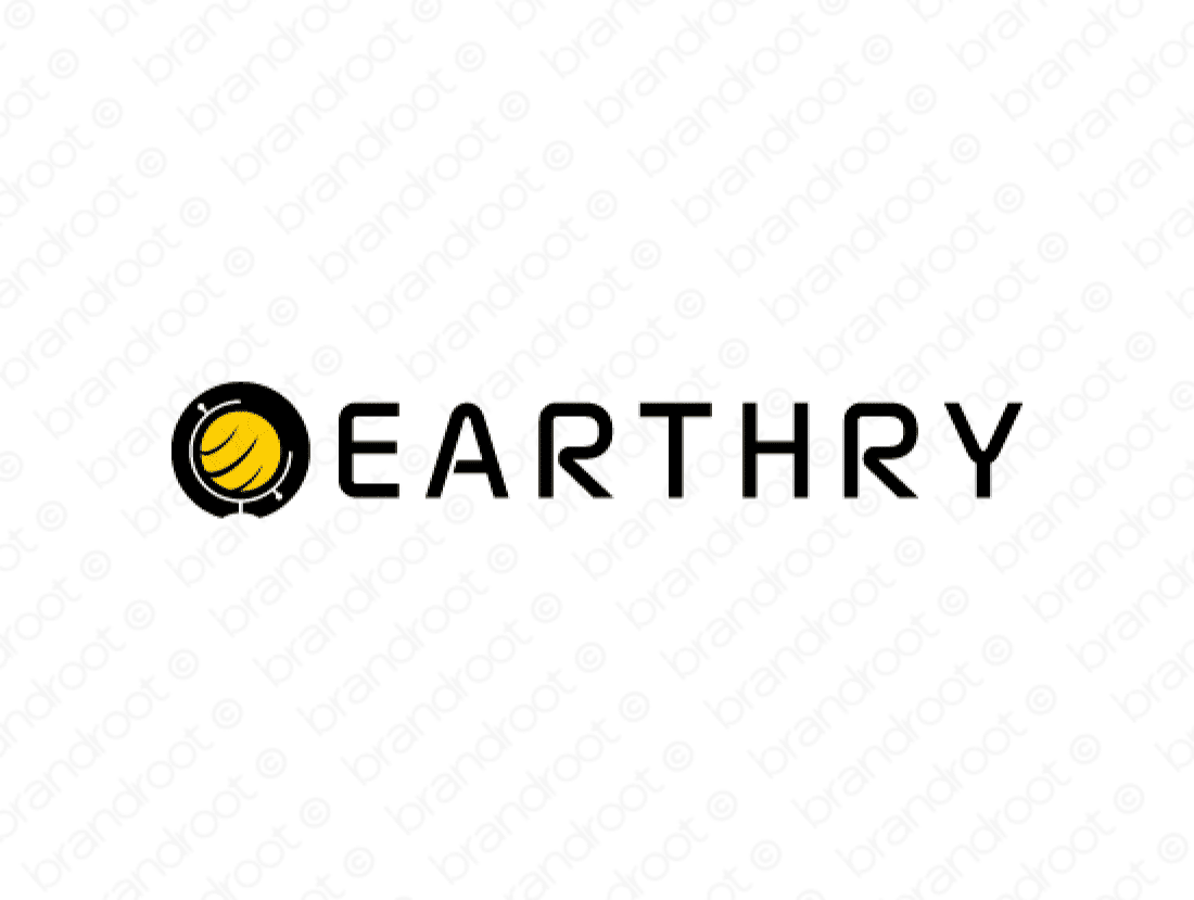 Earthry logo design included with business name and domain name, Earthry.com.