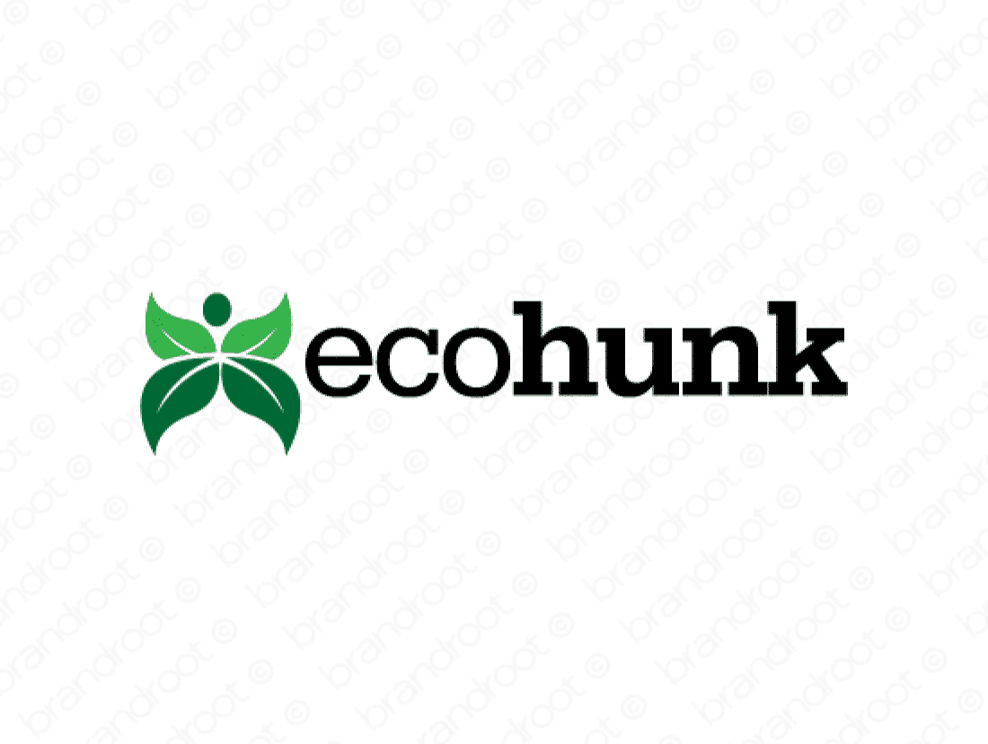 Ecohunk logo design included with business name and domain name, Ecohunk.com.