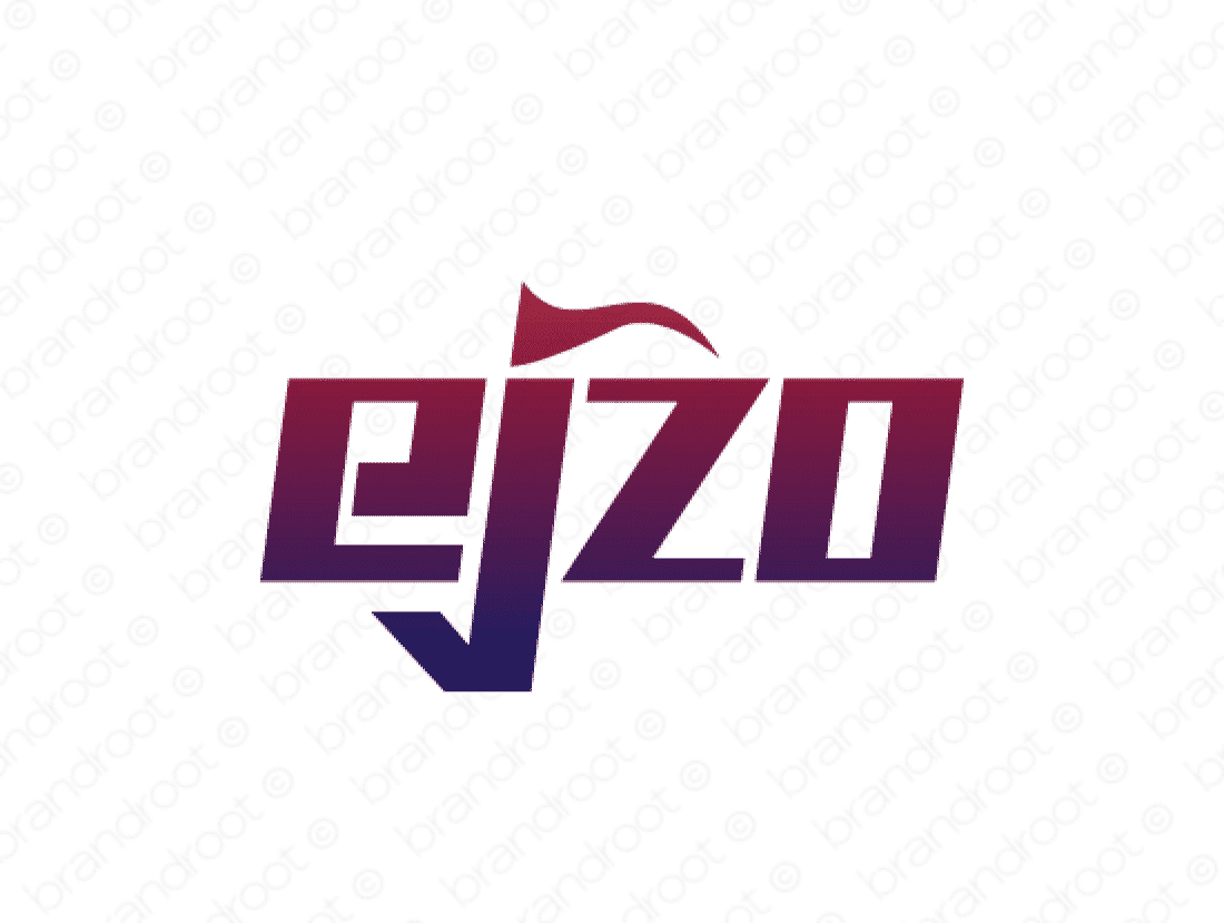 Ejzo logo design included with business name and domain name, Ejzo.com.