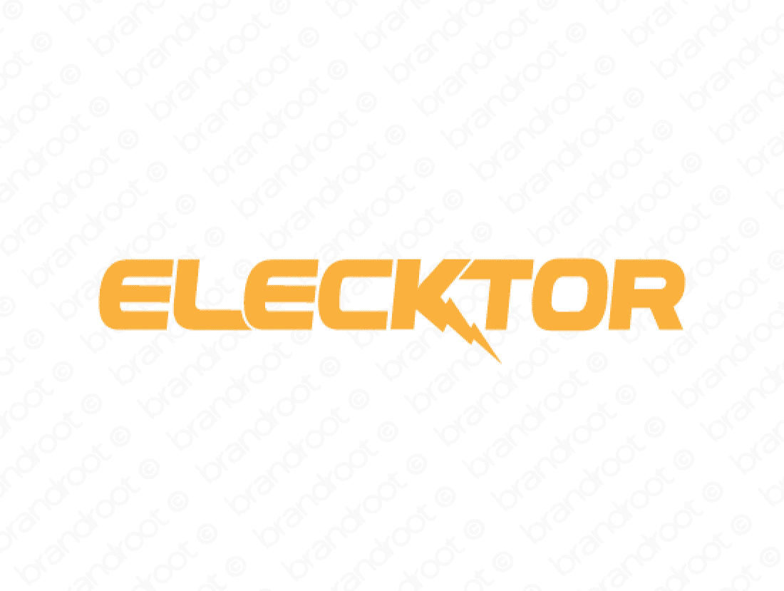 Elecktor logo design included with business name and domain name, Elecktor.com.