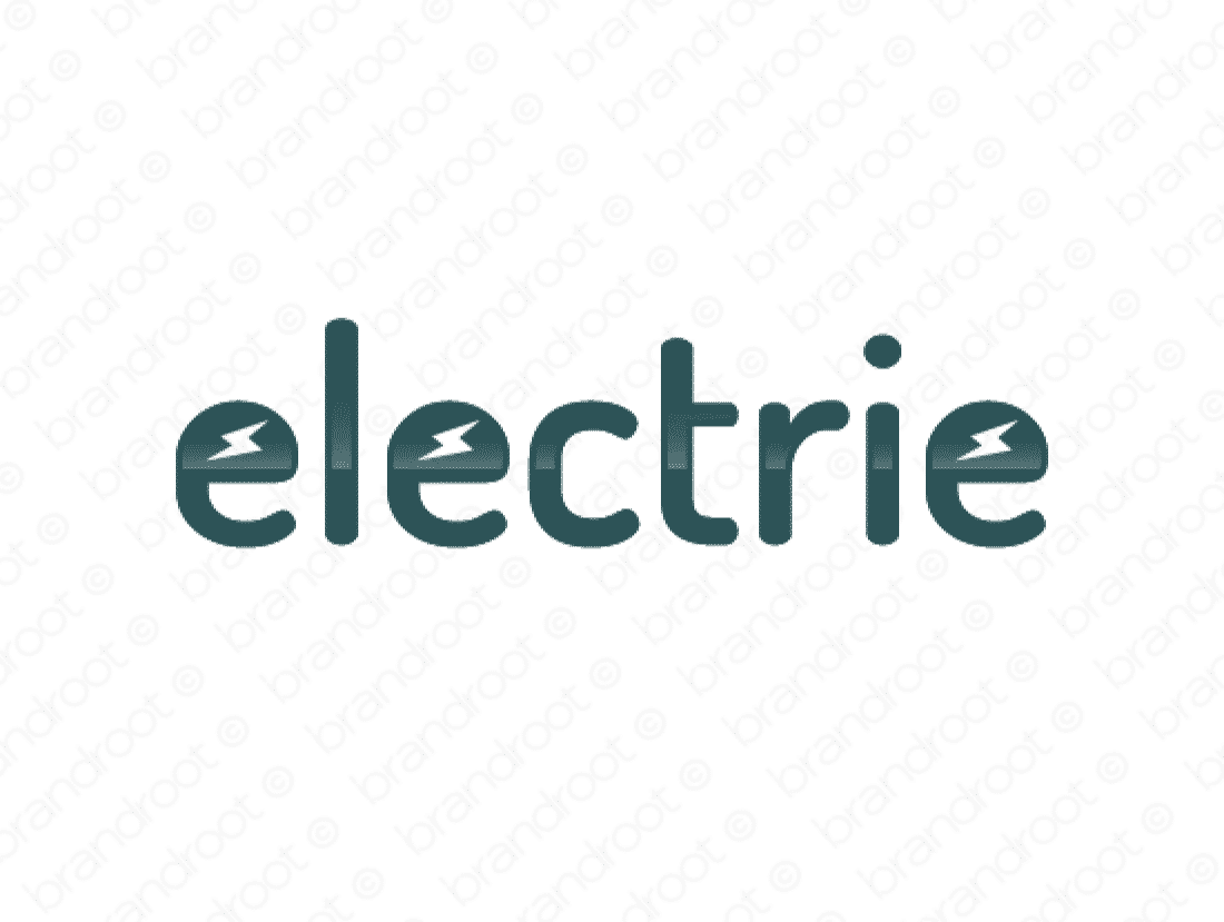 Electrie logo design included with business name and domain name, Electrie.com.