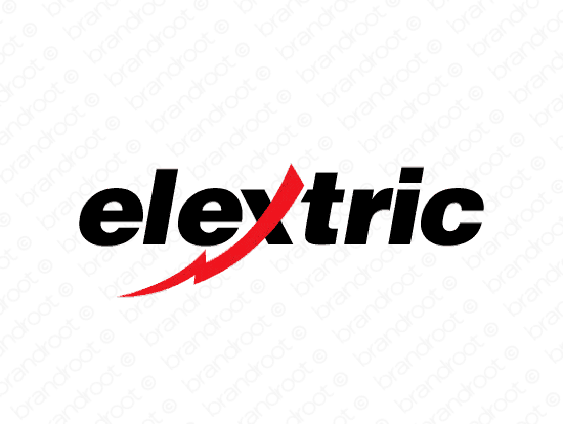 Elextric logo design included with business name and domain name, Elextric.com.
