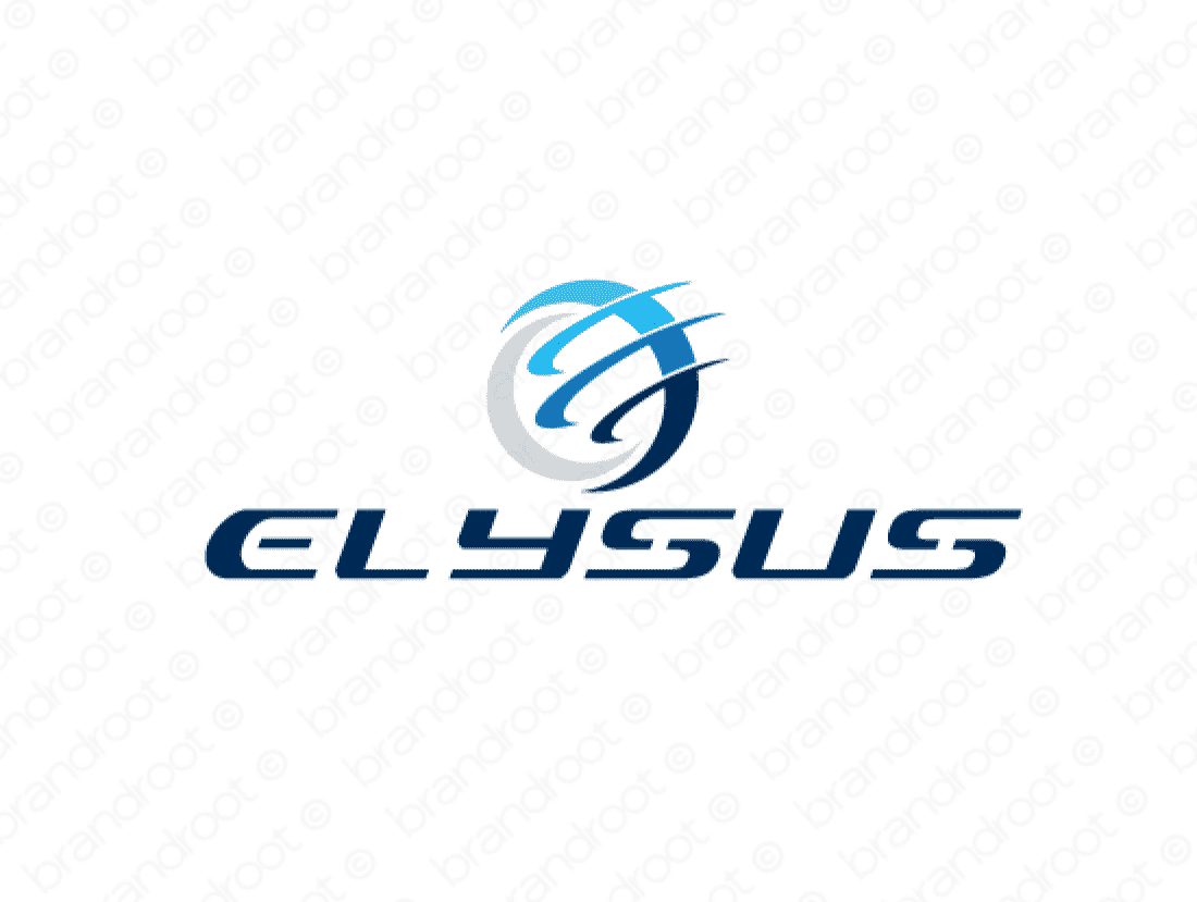Elysus logo design included with business name and domain name, Elysus.com.
