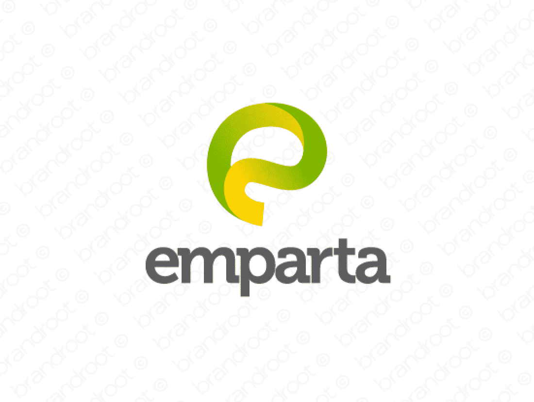 Emparta logo design included with business name and domain name, Emparta.com.