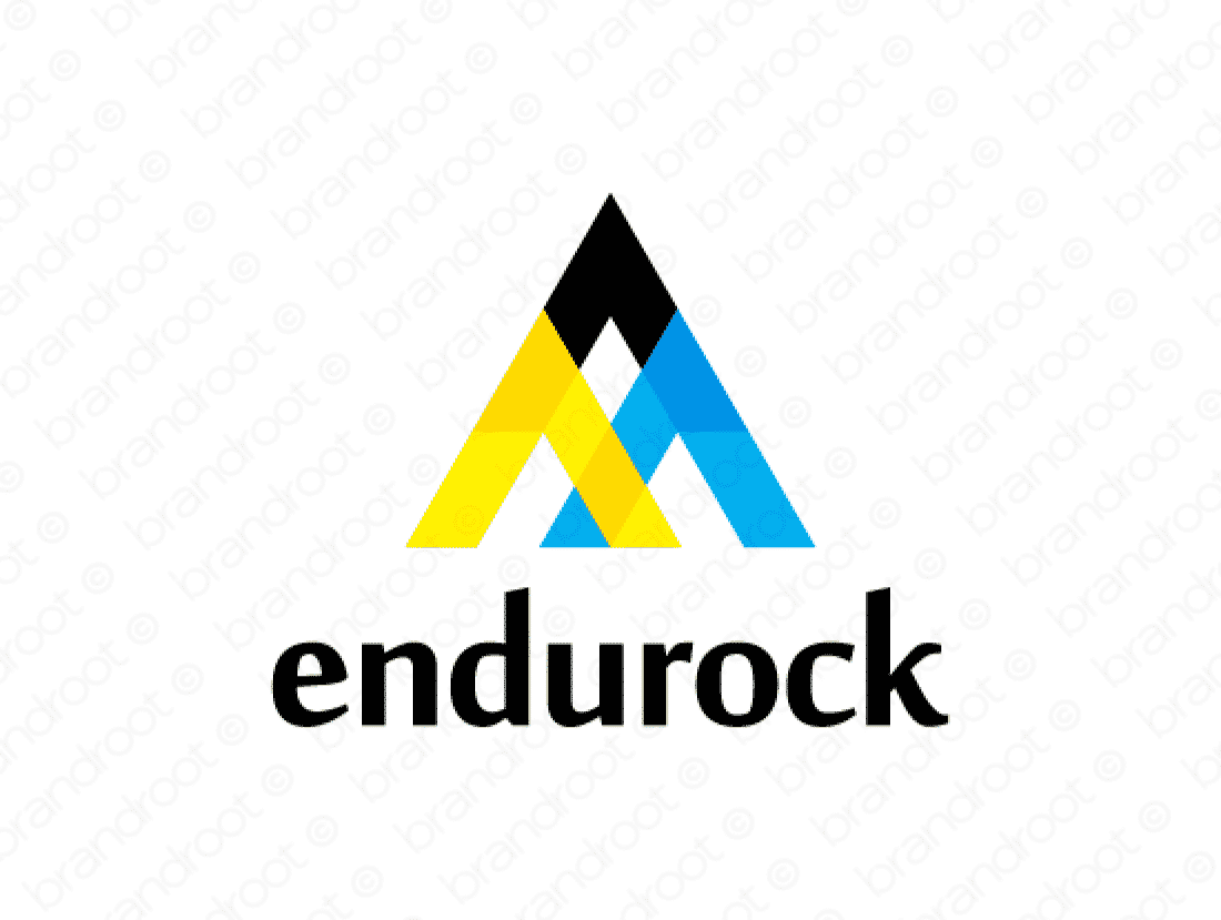 Endurock logo design included with business name and domain name, Endurock.com.