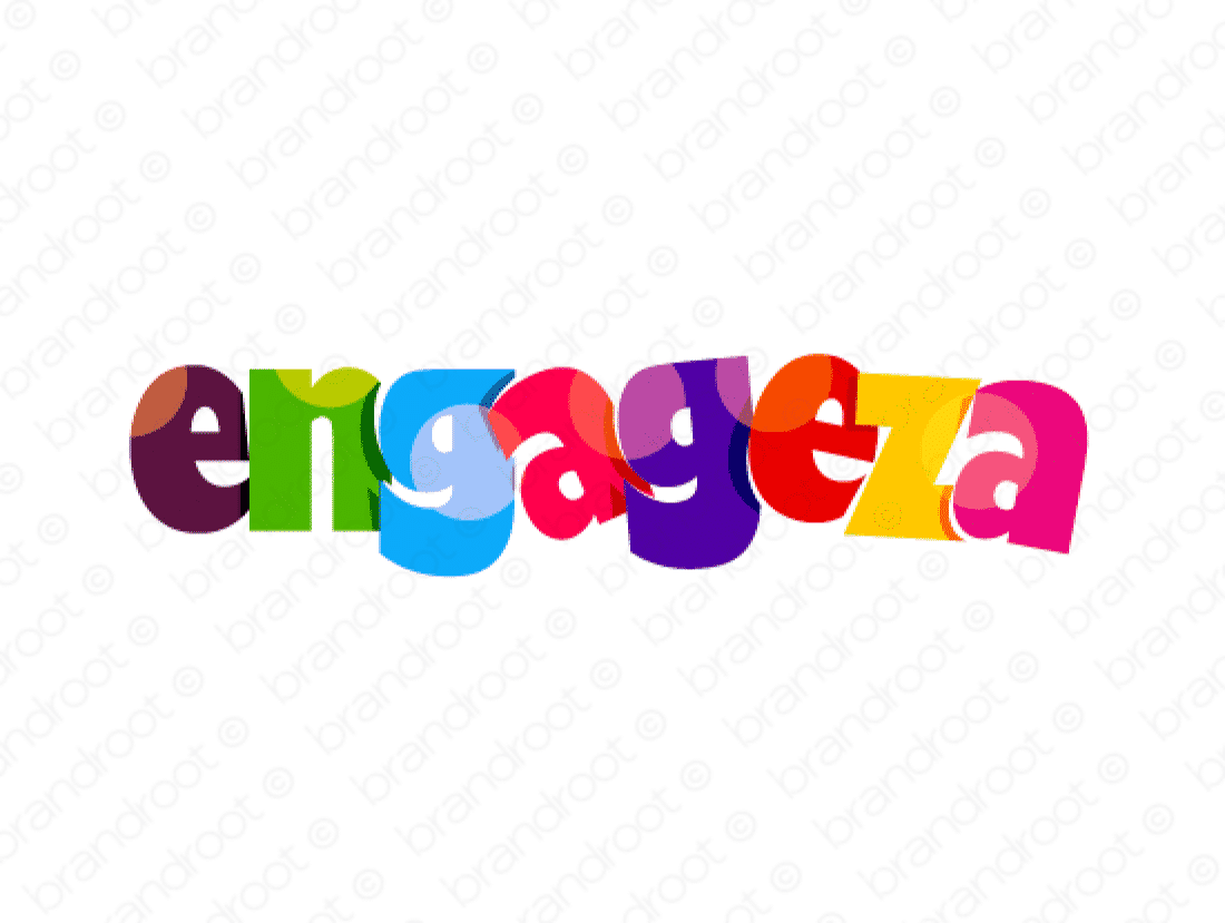 Engageza logo design included with business name and domain name, Engageza.com.