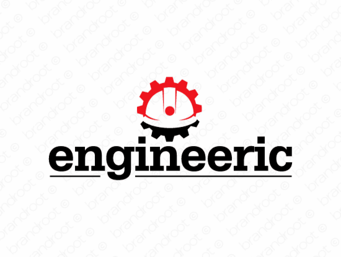 Engineeric logo design included with business name and domain name, Engineeric.com.