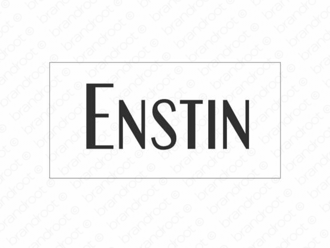 Enstin logo design included with business name and domain name, Enstin.com.