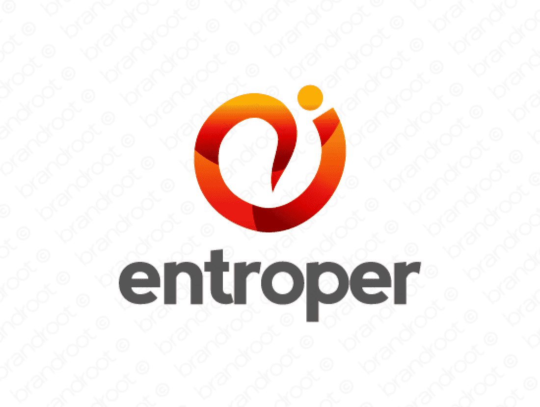 Entroper logo design included with business name and domain name, Entroper.com.