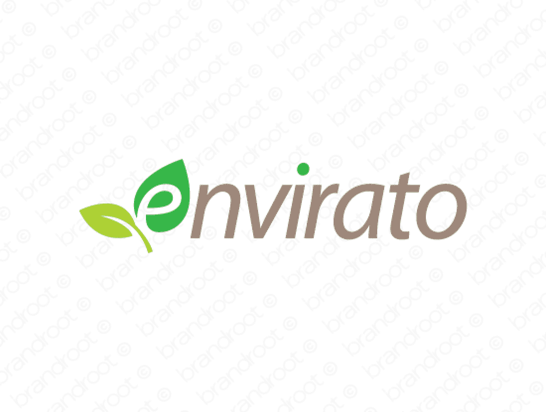 Envirato logo design included with business name and domain name, Envirato.com.