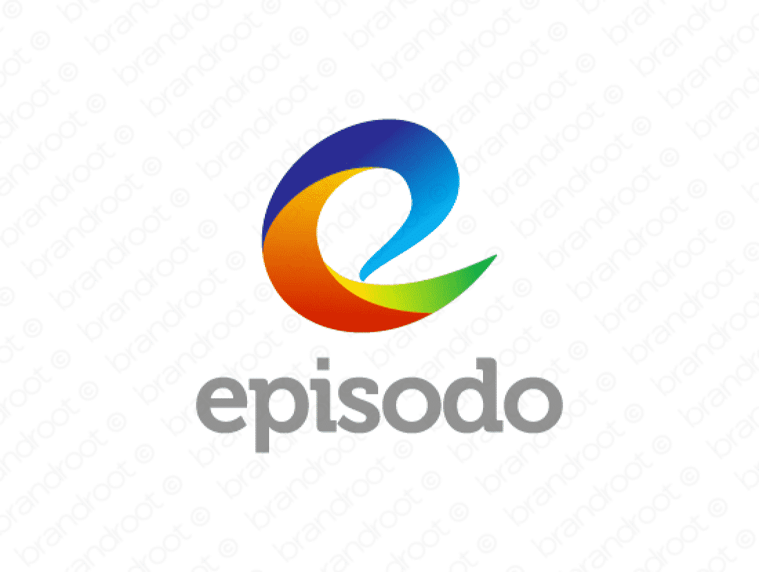 Episodo logo design included with business name and domain name, Episodo.com.
