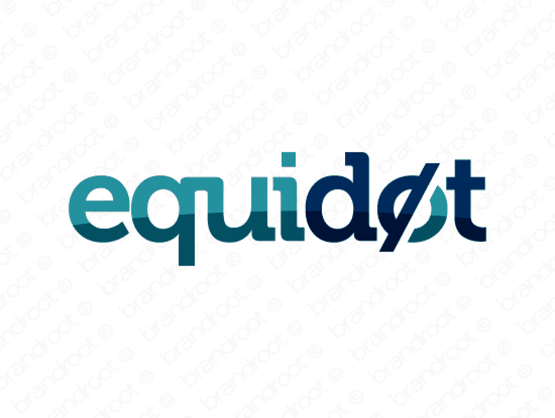 Equidot logo design included with business name and domain name, Equidot.com.