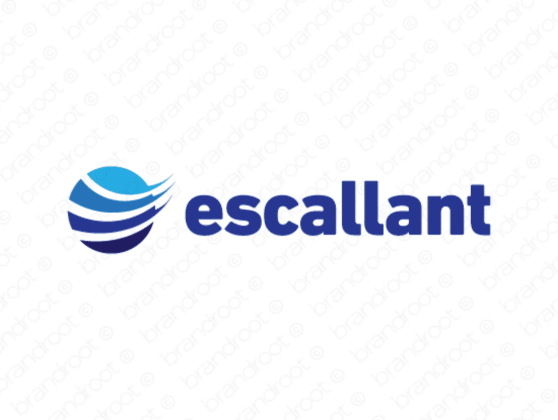 Escallant logo design included with business name and domain name, Escallant.com.
