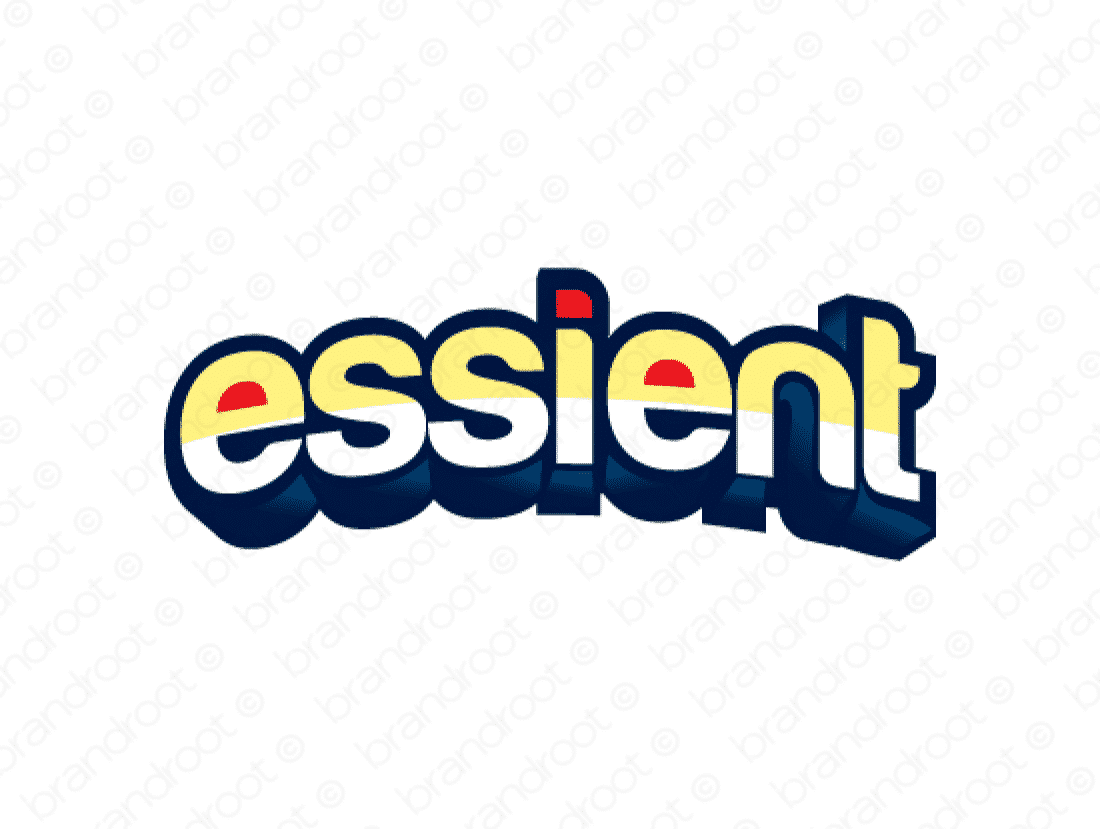 Essient logo design included with business name and domain name, Essient.com.