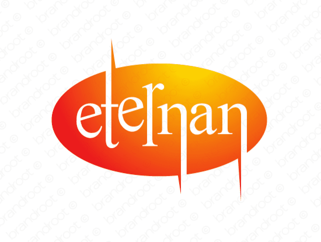 Eternan logo design included with business name and domain name, Eternan.com.
