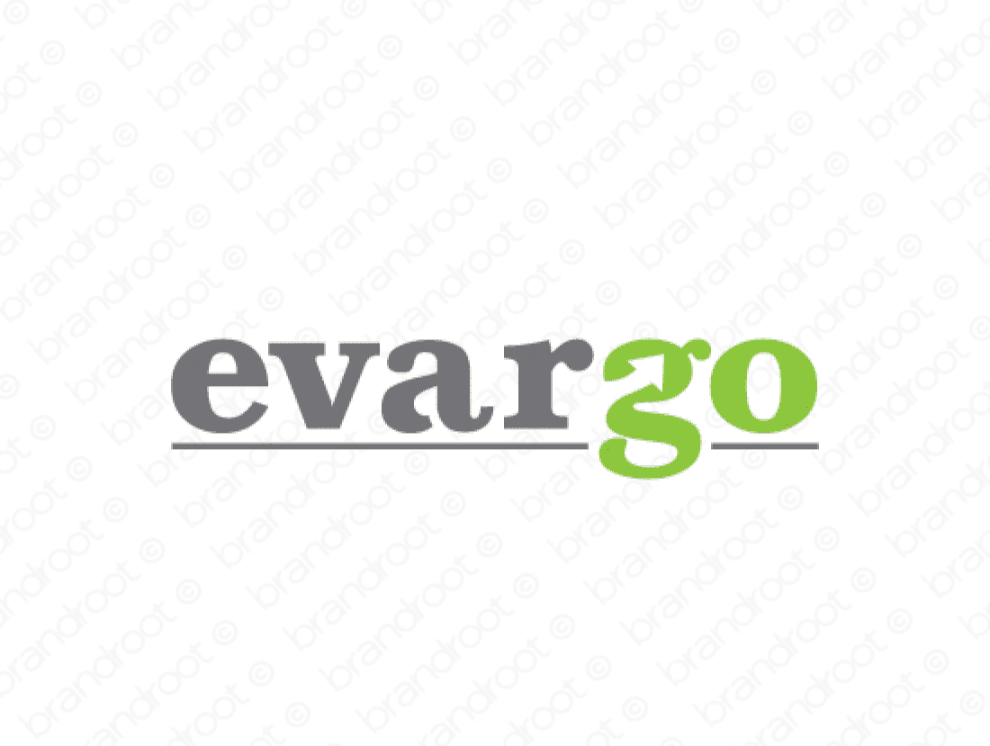 Evargo logo design included with business name and domain name, Evargo.com.