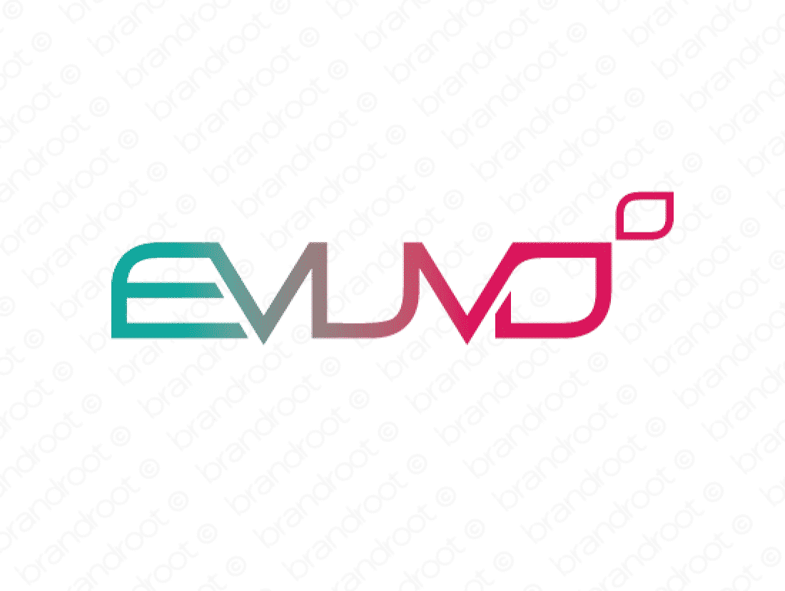 Evuvo logo design included with business name and domain name, Evuvo.com.
