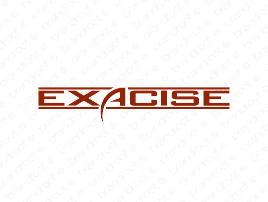 Exacise logo design included with business name and domain name, Exacise.com.