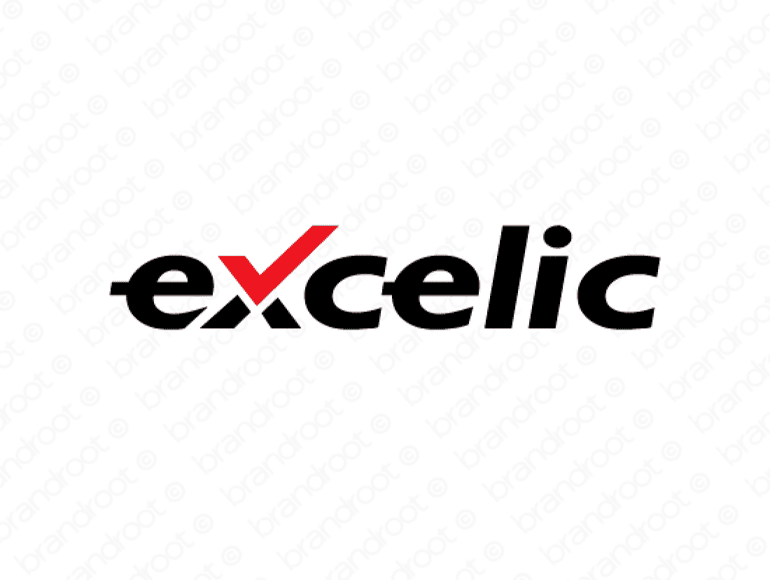 Excelic logo design included with business name and domain name, Excelic.com.