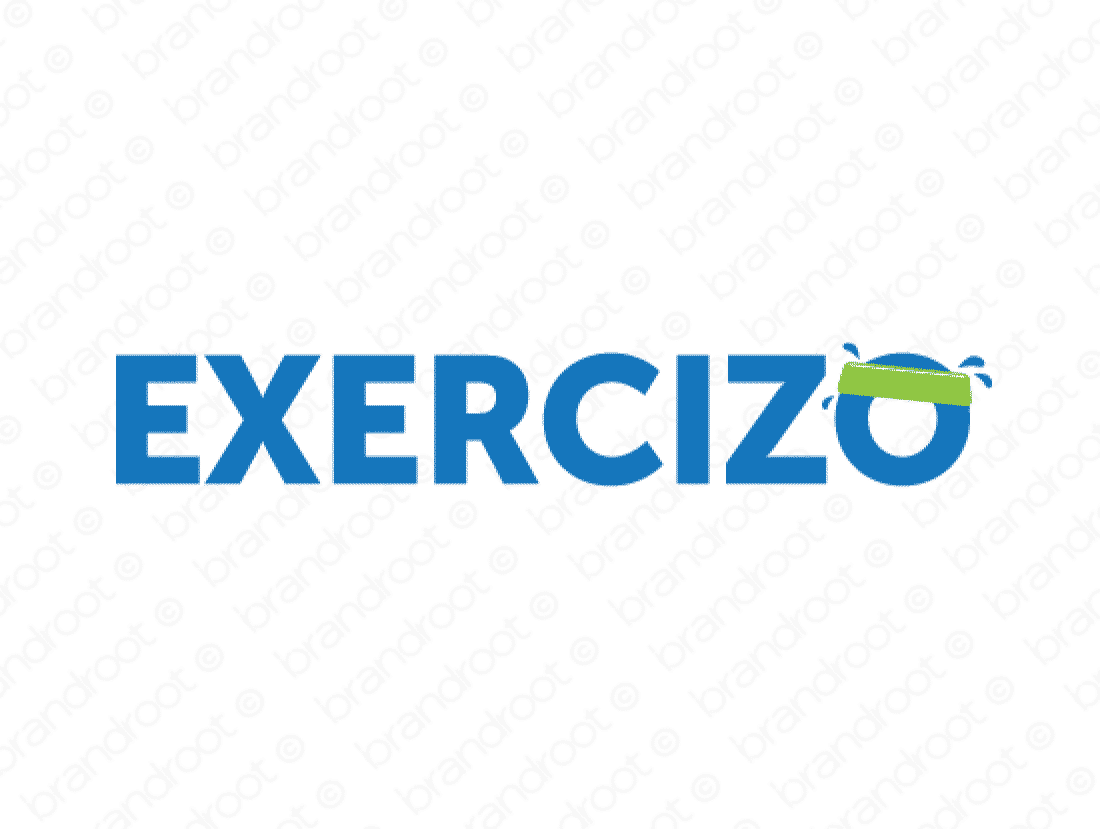 Exercizo logo design included with business name and domain name, Exercizo.com.
