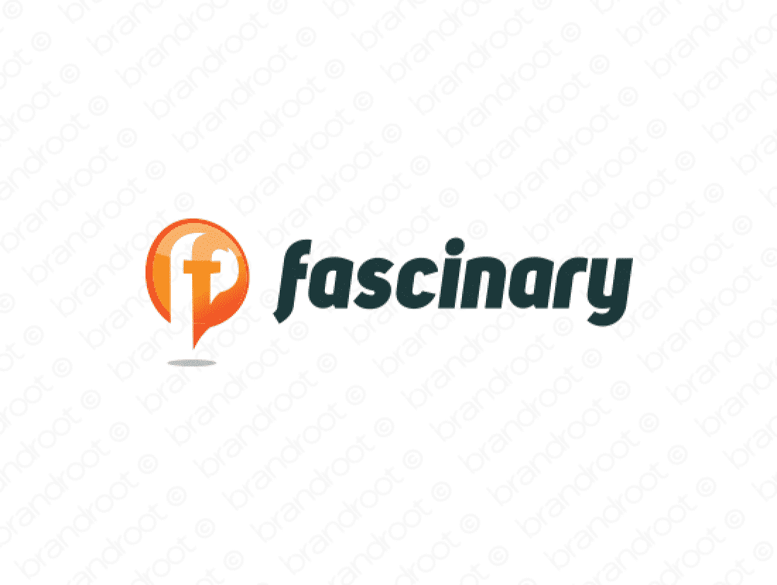 Fascinary logo design included with business name and domain name, Fascinary.com.