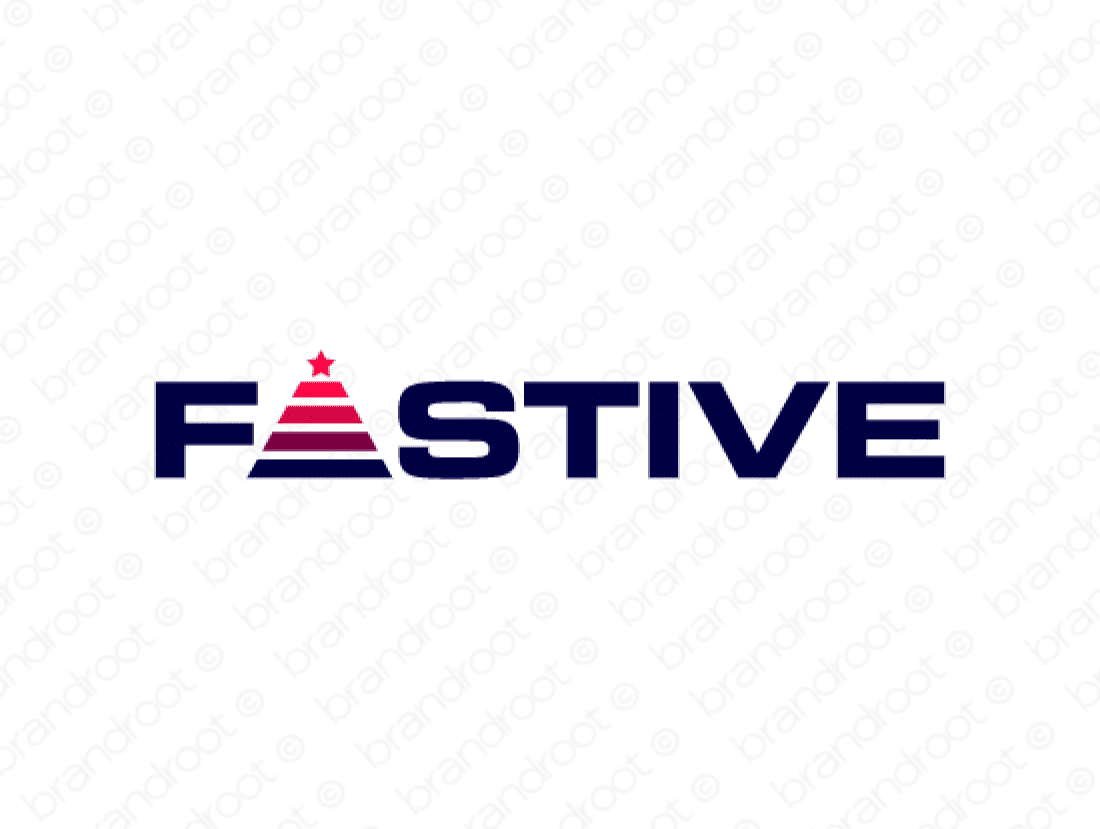 Fastive logo design included with business name and domain name, Fastive.com.
