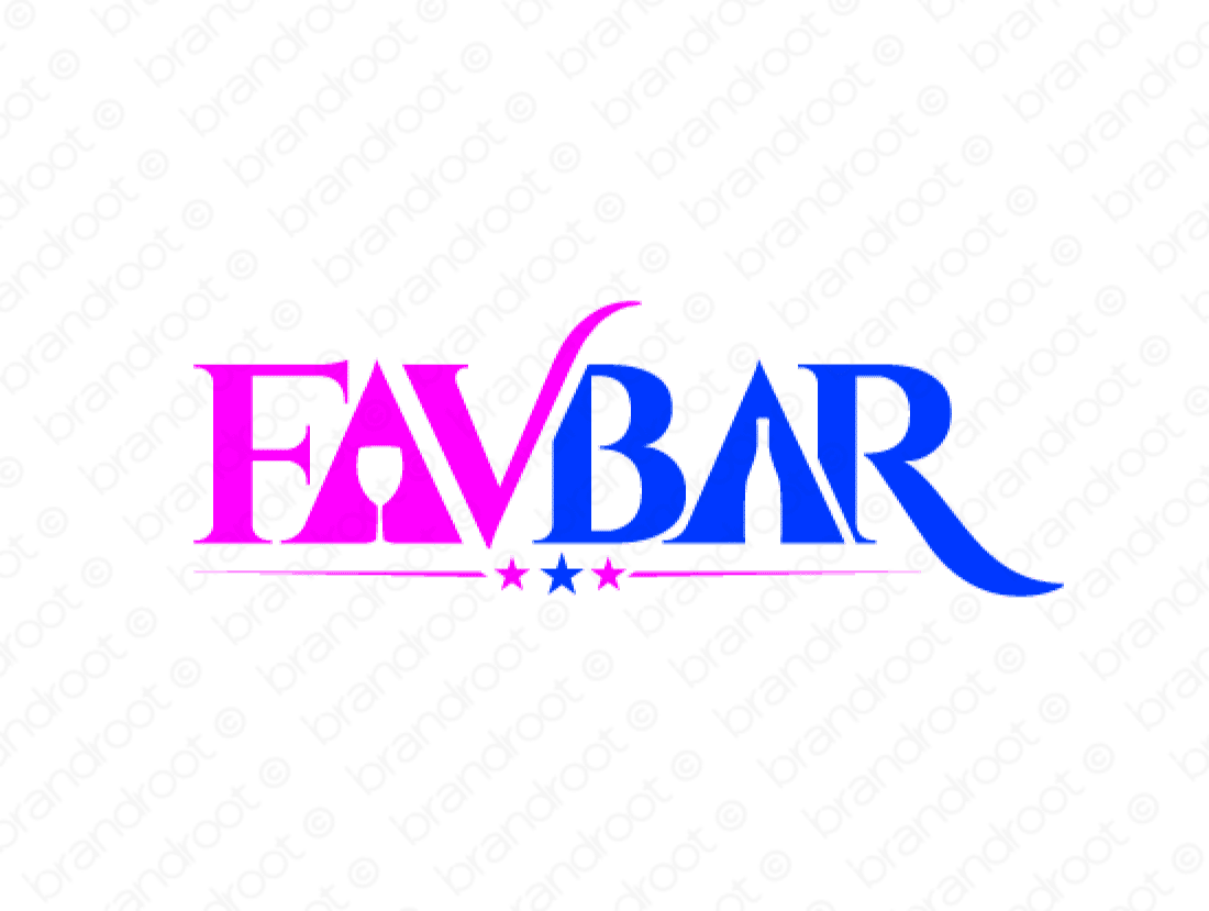 Favbar logo design included with business name and domain name, Favbar.com.