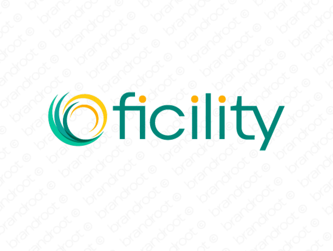 Ficility logo design included with business name and domain name, Ficility.com.