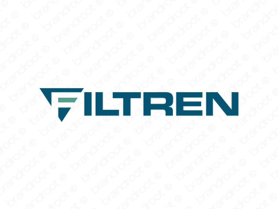 Filtren logo design included with business name and domain name, Filtren.com.