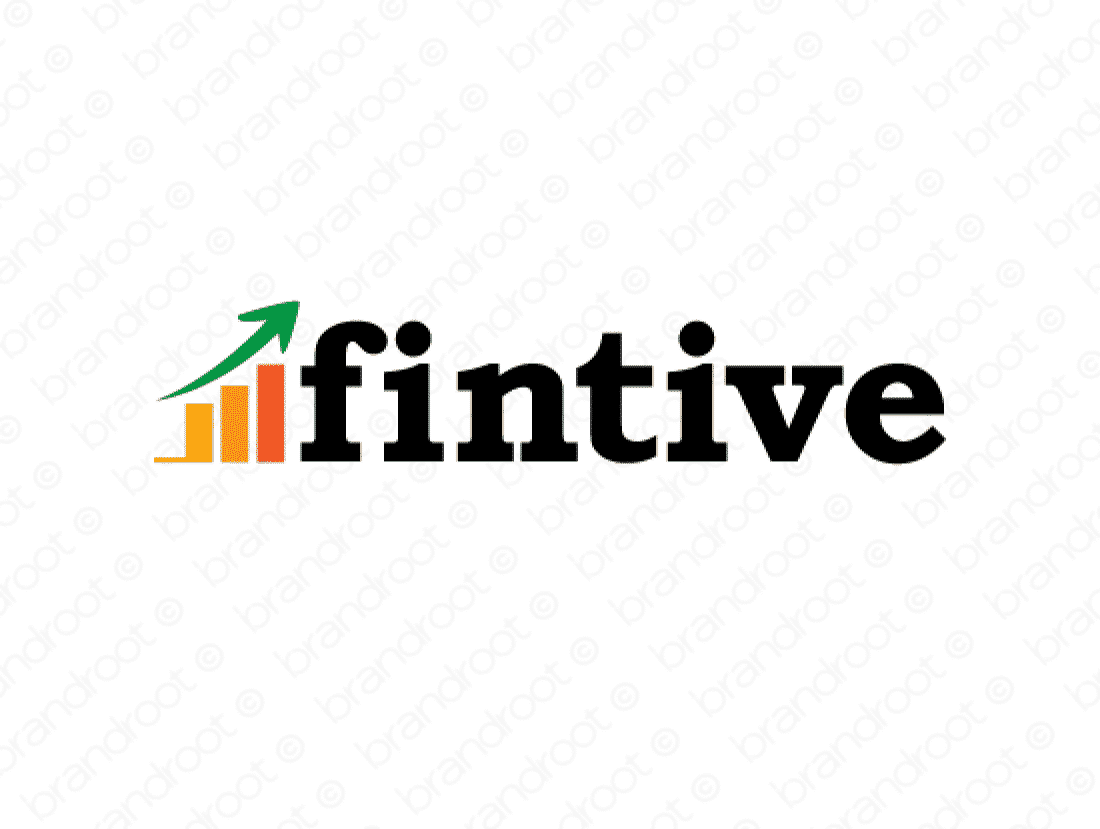 Fintive logo design included with business name and domain name, Fintive.com.