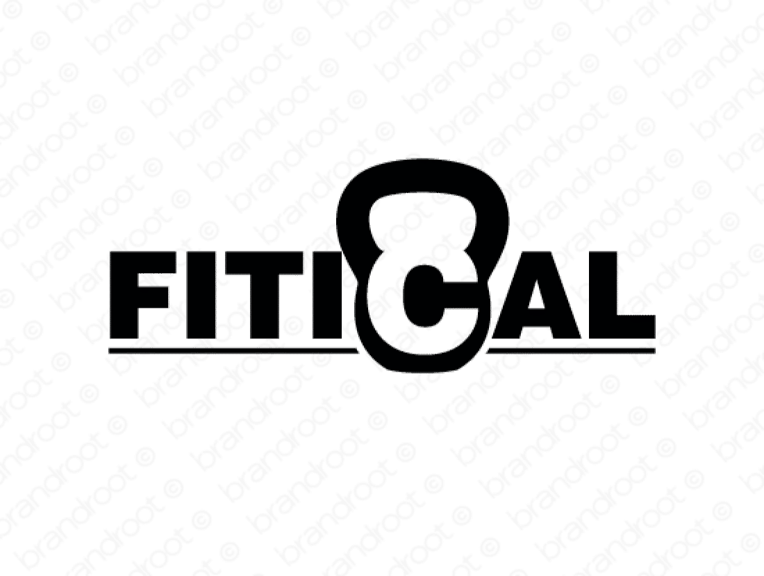 Fitical logo design included with business name and domain name, Fitical.com.