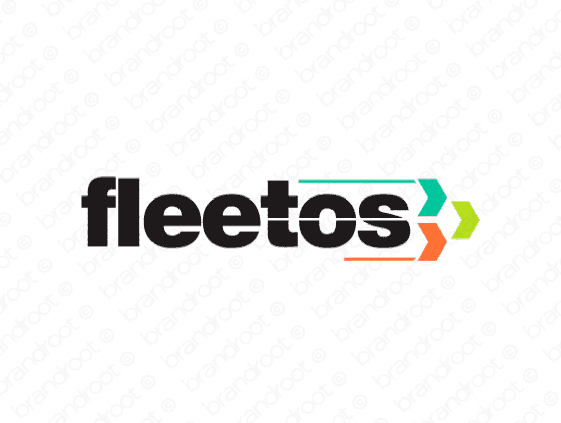 Fleetos logo design included with business name and domain name, Fleetos.com.