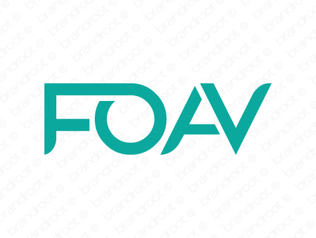 Foav logo design included with business name and domain name, Foav.com.
