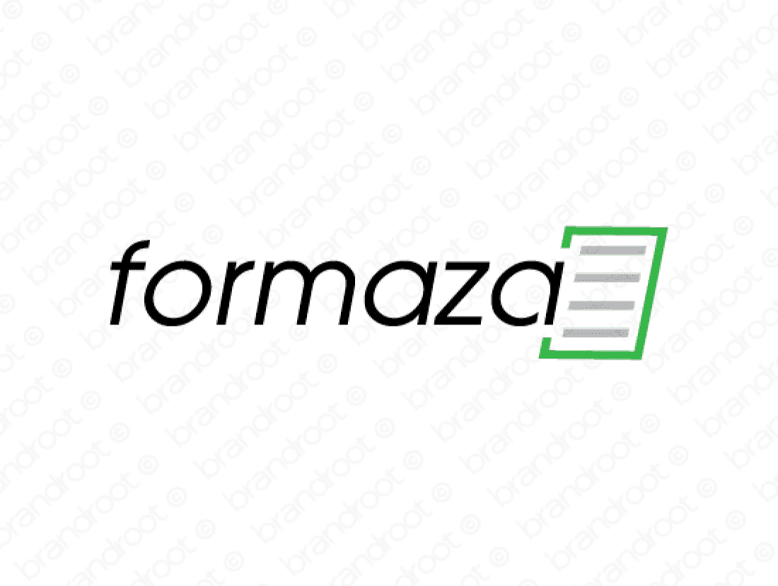 Formaza logo design included with business name and domain name, Formaza.com.