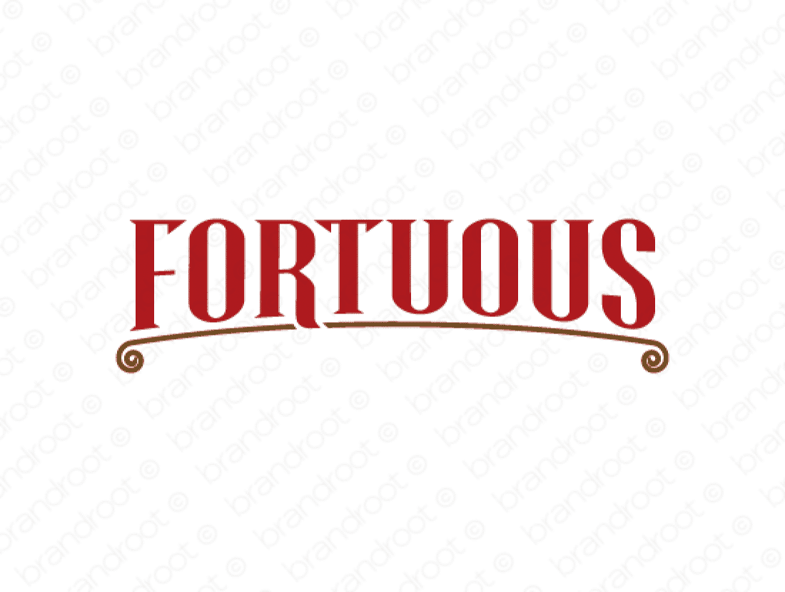 Fortuous logo design included with business name and domain name, Fortuous.com.