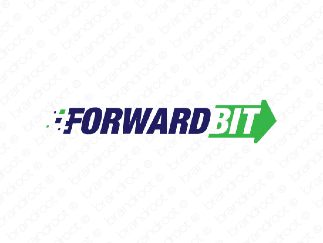 Forwardbit logo design included with business name and domain name, Forwardbit.com.