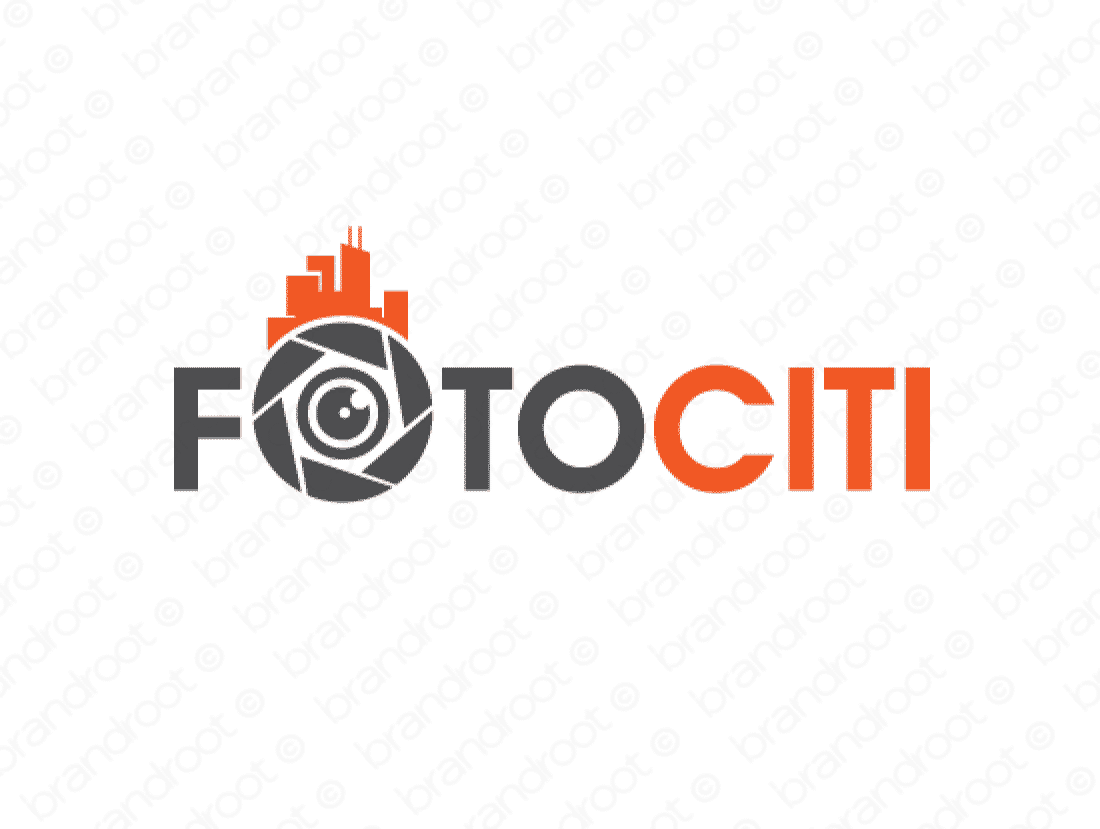 Fotociti logo design included with business name and domain name, Fotociti.com.