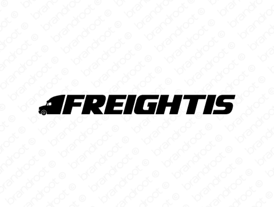 Freightis logo design included with business name and domain name, Freightis.com.
