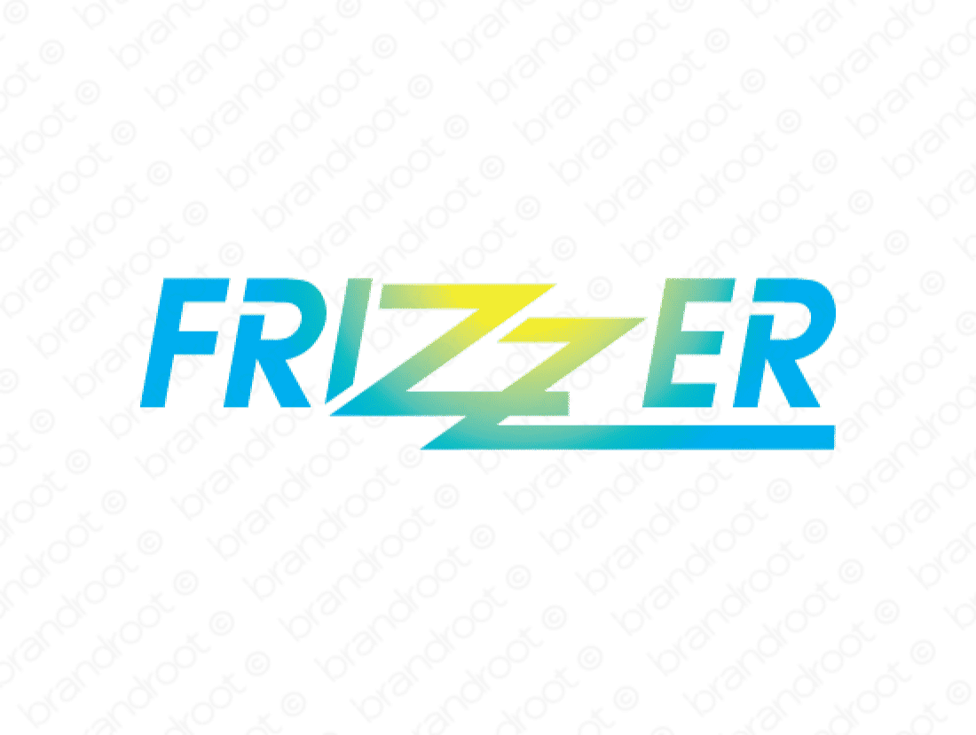 Frizzer logo design included with business name and domain name, Frizzer.com.