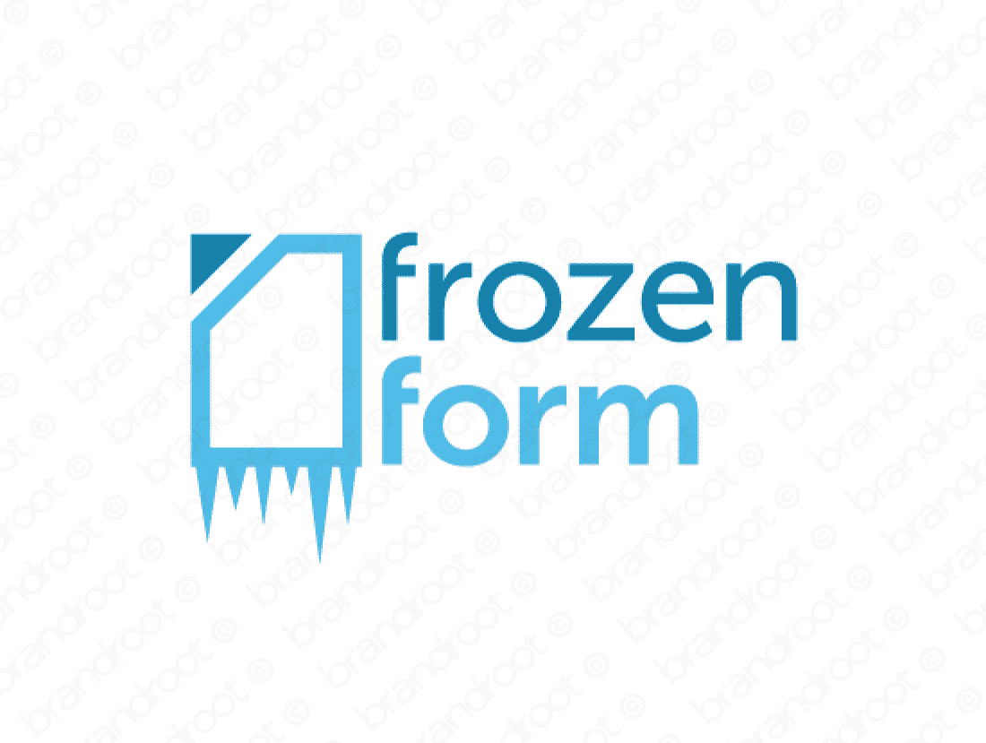 Frozenform logo design included with business name and domain name, Frozenform.com.