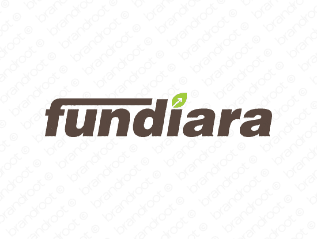 Fundiara logo design included with business name and domain name, Fundiara.com.