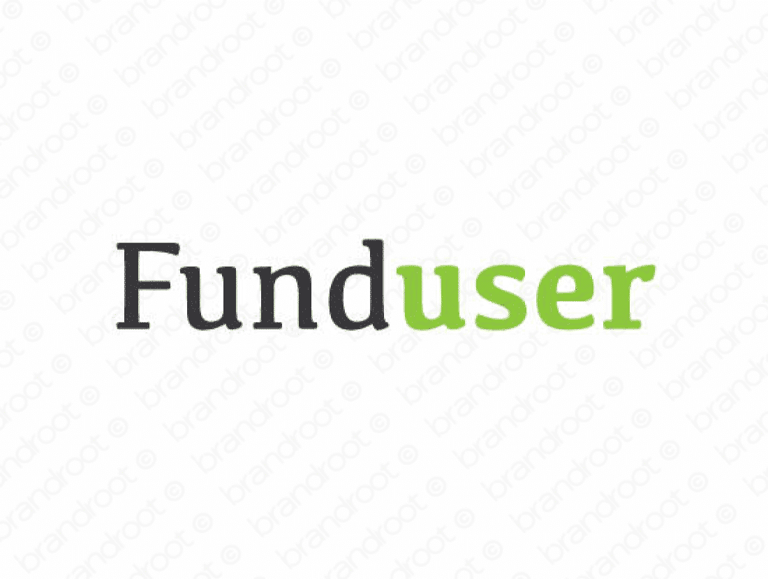 Funduser logo design included with business name and domain name, Funduser.com.