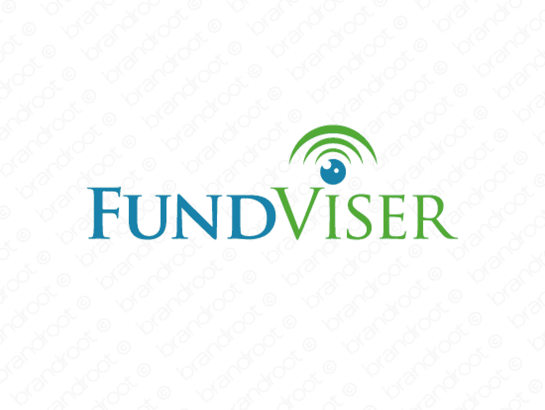 Fundviser logo design included with business name and domain name, Fundviser.com.
