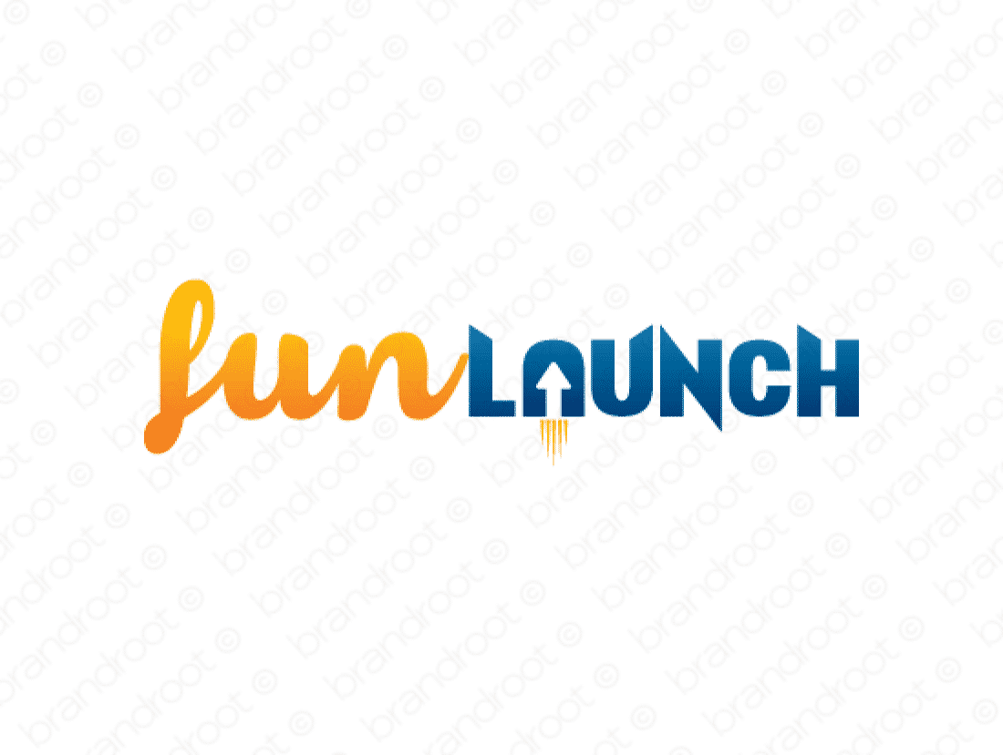 Funlaunch logo design included with business name and domain name, Funlaunch.com.