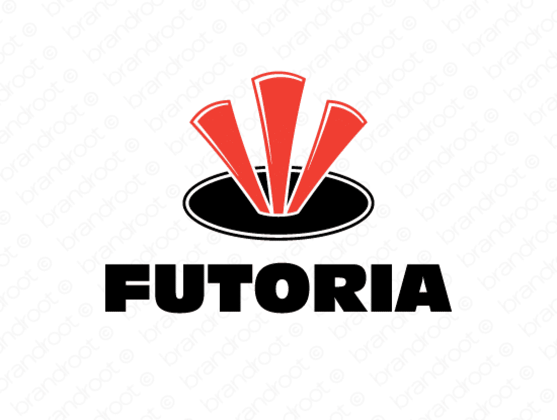 Futoria logo design included with business name and domain name, Futoria.com.